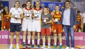 Mágico nivel: Ainhoa Lacorzana, del Spar Gran Canaria, en el quinteto ideal del Europeo Sub-16