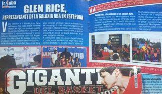 Iluminó cada segundo del JR NBA Gigantes Camp: la visita de Glen Rice, en nuestra Gigantes Junior