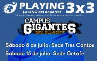 ¡No pierdas la oportunidad! Apúntate al 3×3 que Playing llevará a cabo en los Campus Gigantes