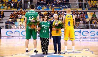 El gran homenaje en el Granca-Unicaja por el Día de la Madre