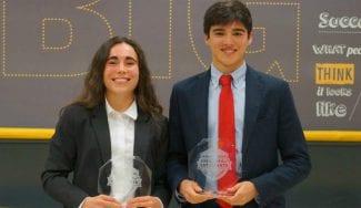 Una distinción para gente brillante: Lucía de la Mata y Álvaro Jiménez ya son BSAA