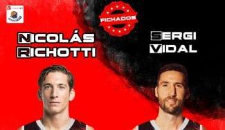 Nico Richotti y Sergi Vidal se incorporan a Montakit Fuenlabrada
